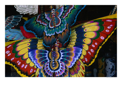 paul-\'Hand Crafted Butterfly Kites for Sale, Gianyar, Indonesia\' by Paul Beinssen-hand-crafted-butterfly-kites-for-sale-gianyar-indonesia