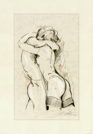 Ahhh...a full bodied embrace! I so need you here :: Passion\'s Embrace, by Alfred Gockel