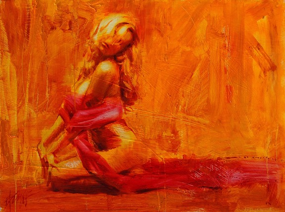 Golden Aura...perfect titling, don\'t you think? I\'ve felt this way with you. :: \'Golden Aura\' By Henry Asencio