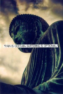Pain is certain; suffering is optional